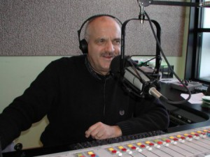 Mike King in the studio of the Mari-Mann Better Life Show