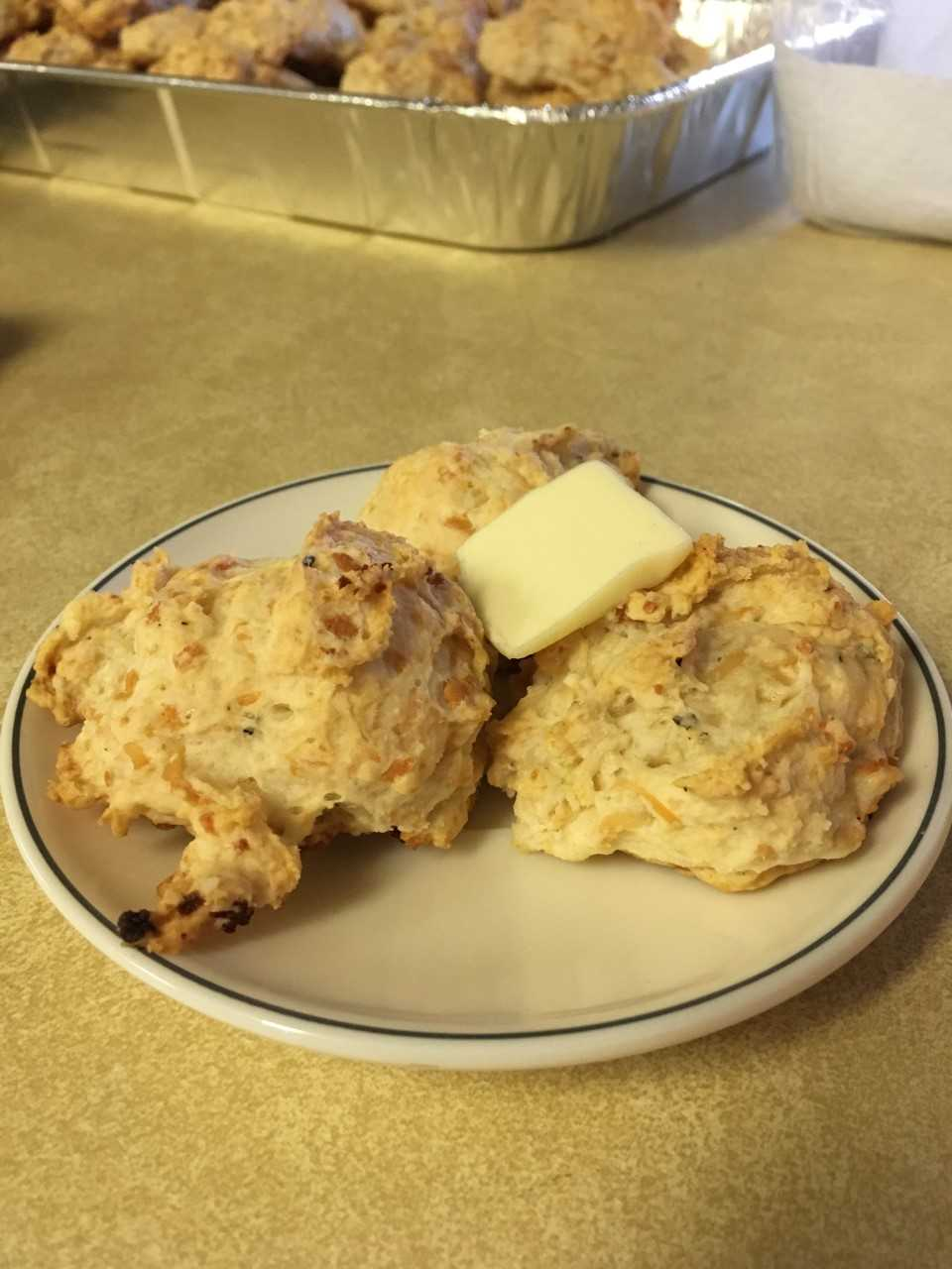 Roasted Red Pepper and Goat Cheese Drop Biscuits
