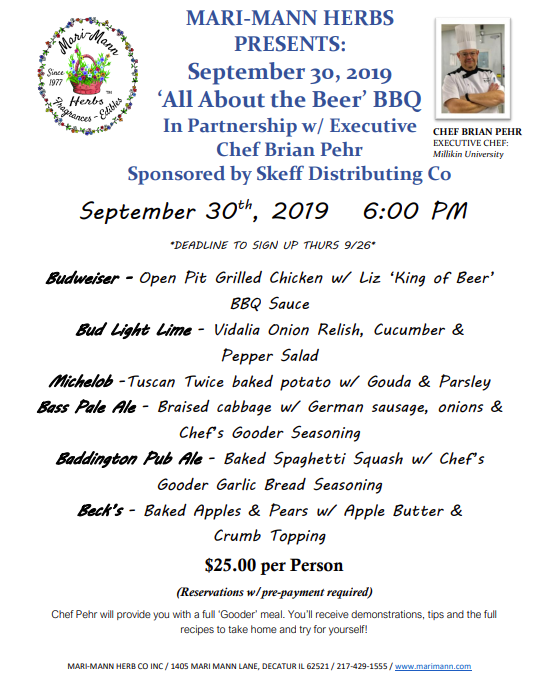'All About the Beer' BBQ Sponsored by Skeff Distributing Co