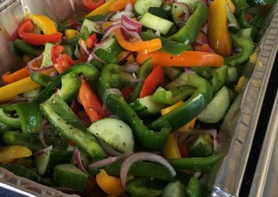 Bud Light Lime Cucumber & Pepper Salad with Vidalia Onion Relish
