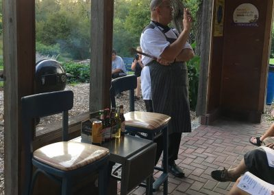 Chef Pehr explaining the Beer BBQ Recipes