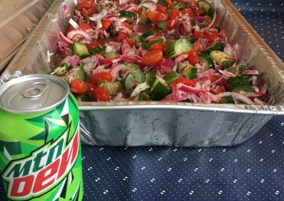 Mountain Dew & Lemon Thyme Jelly Cucumber & Tomato Salad