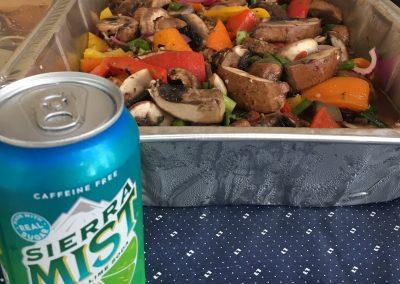 Chef Pehr's Sierra Mist & Pineapple Salsa Mushroom & Pepper Salad