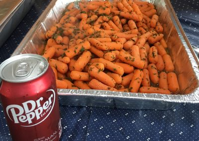 Dr Pepper Glazed Grilled Carrots